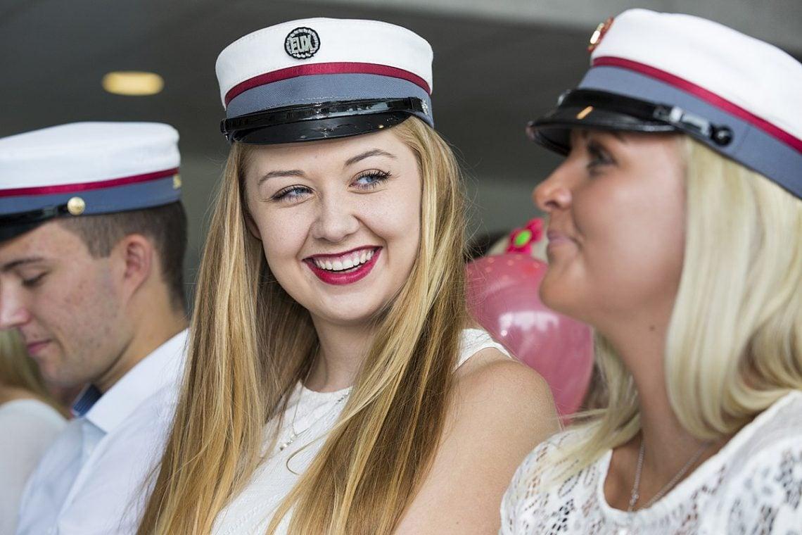 Danish student girls happy and smiling