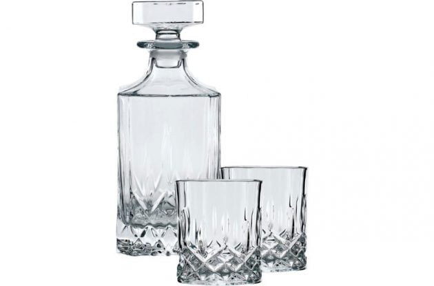 Whiskykaraffel og glas