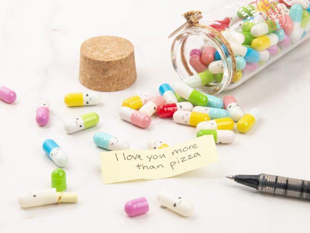 """""""Piller"""" med romantisk besked"""