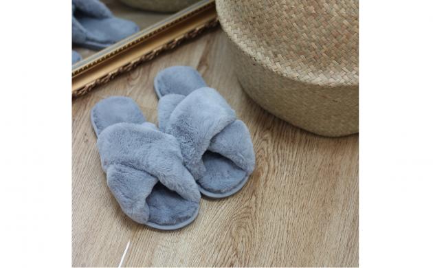 Bløde teddy slippers