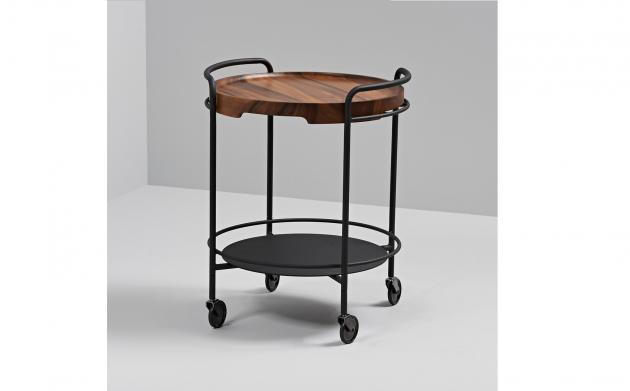 Bakkebord med træbakke