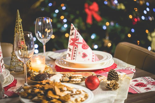 Dækket bord til jul