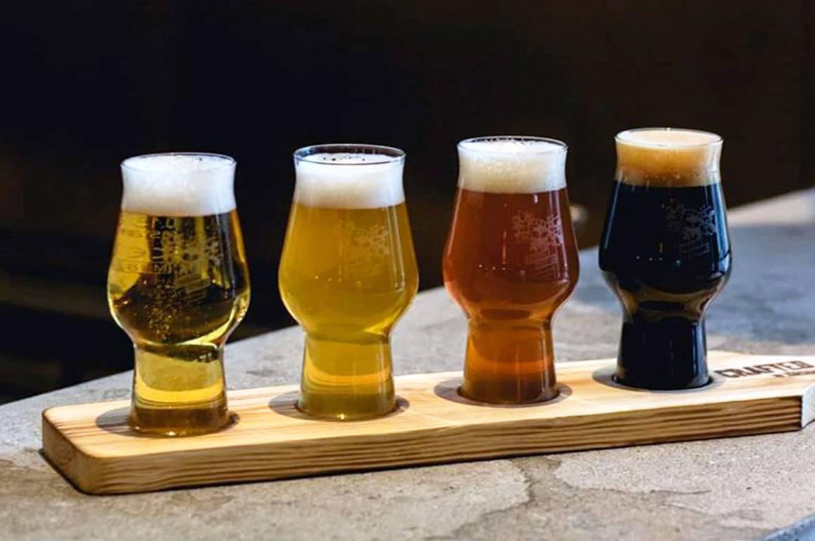 4 forskellige øl i glas