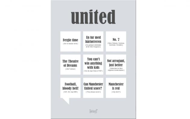 Citatplakat til United fans