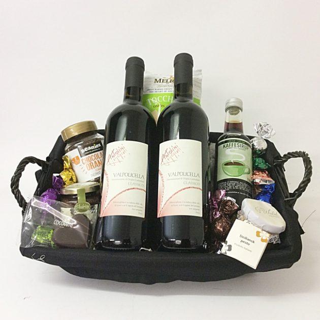 Gavekurv med italiensk vin