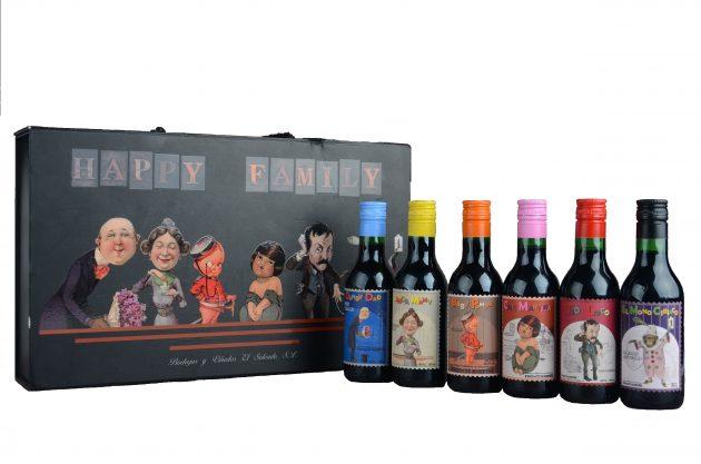 Smag på forskellige rødvin