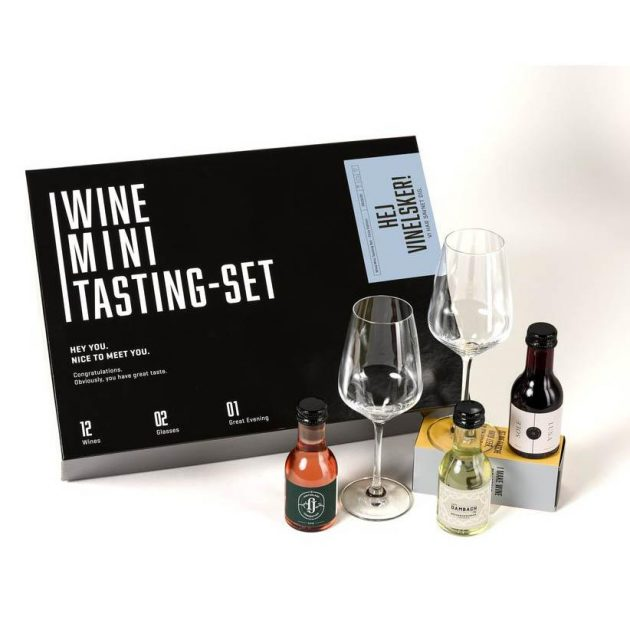 Vinsmagnings boks for 2 (inkl. vinglas)
