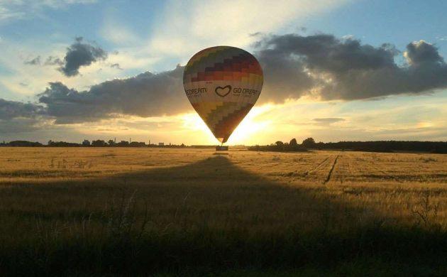 Romantisk tur i luftballon
