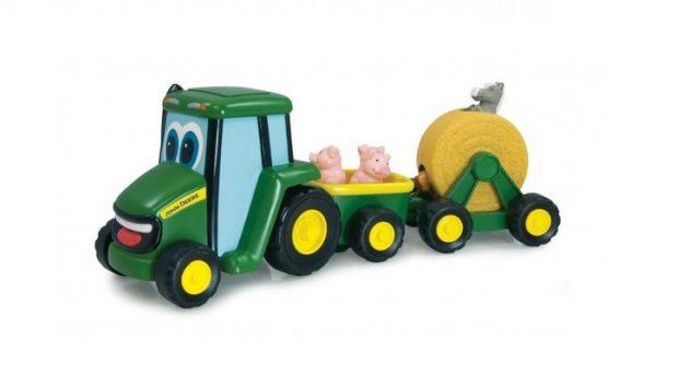 Melodi-traktor med vogn