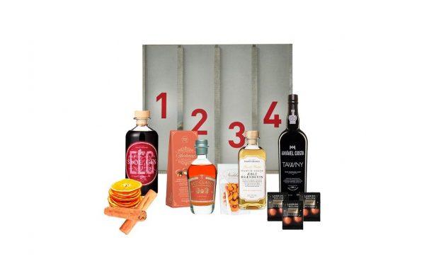 Adventskalender med gin, rom, brændevin og portvin