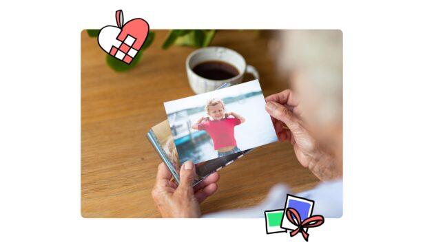 Send fotoprint hver måned samt online fotoalbum