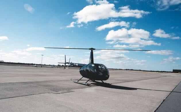 Helikoptertur over det danske land